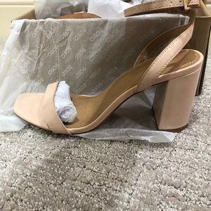 Brand new nude block heels